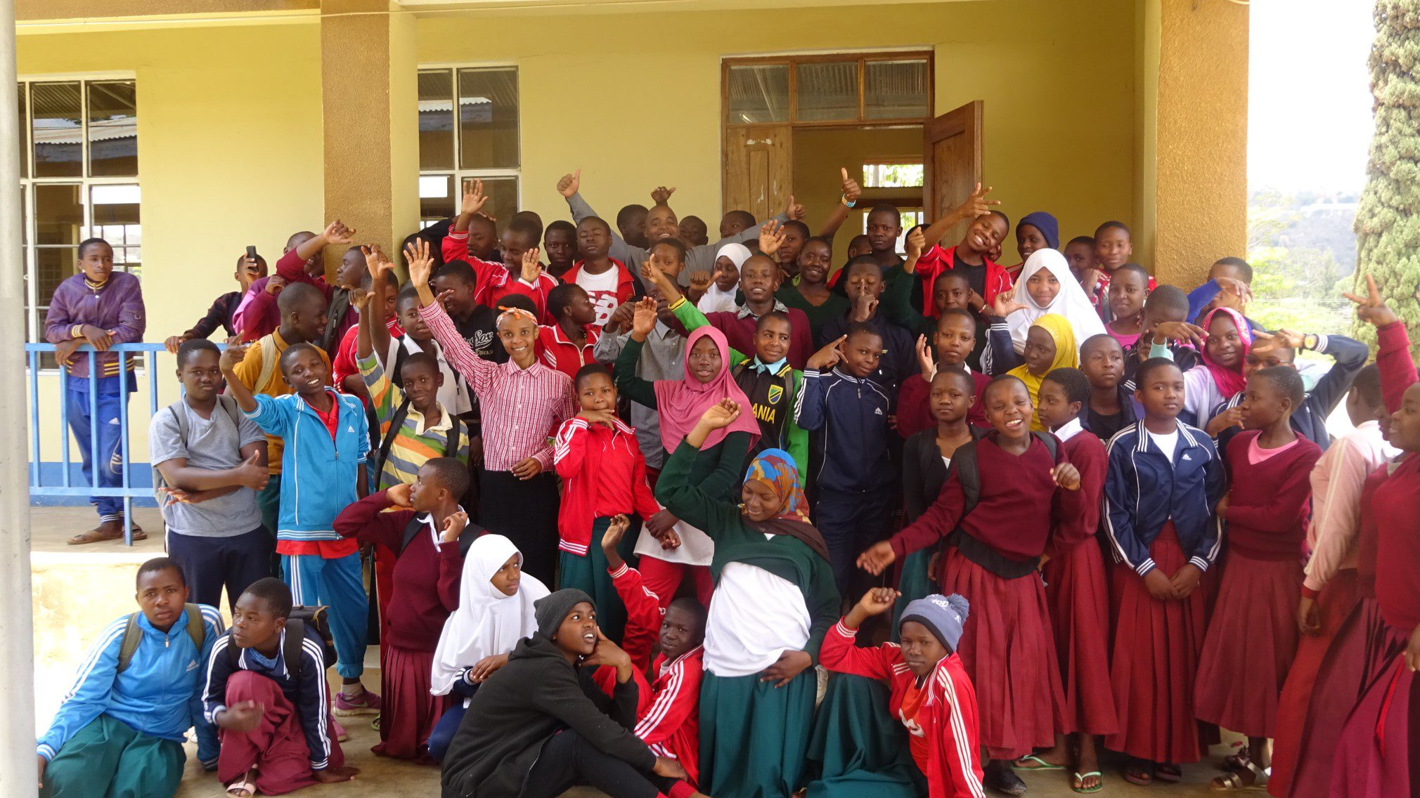 A group of Tanzanian students