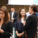 USF Sarasota-Manatee campus Student talks to an employer