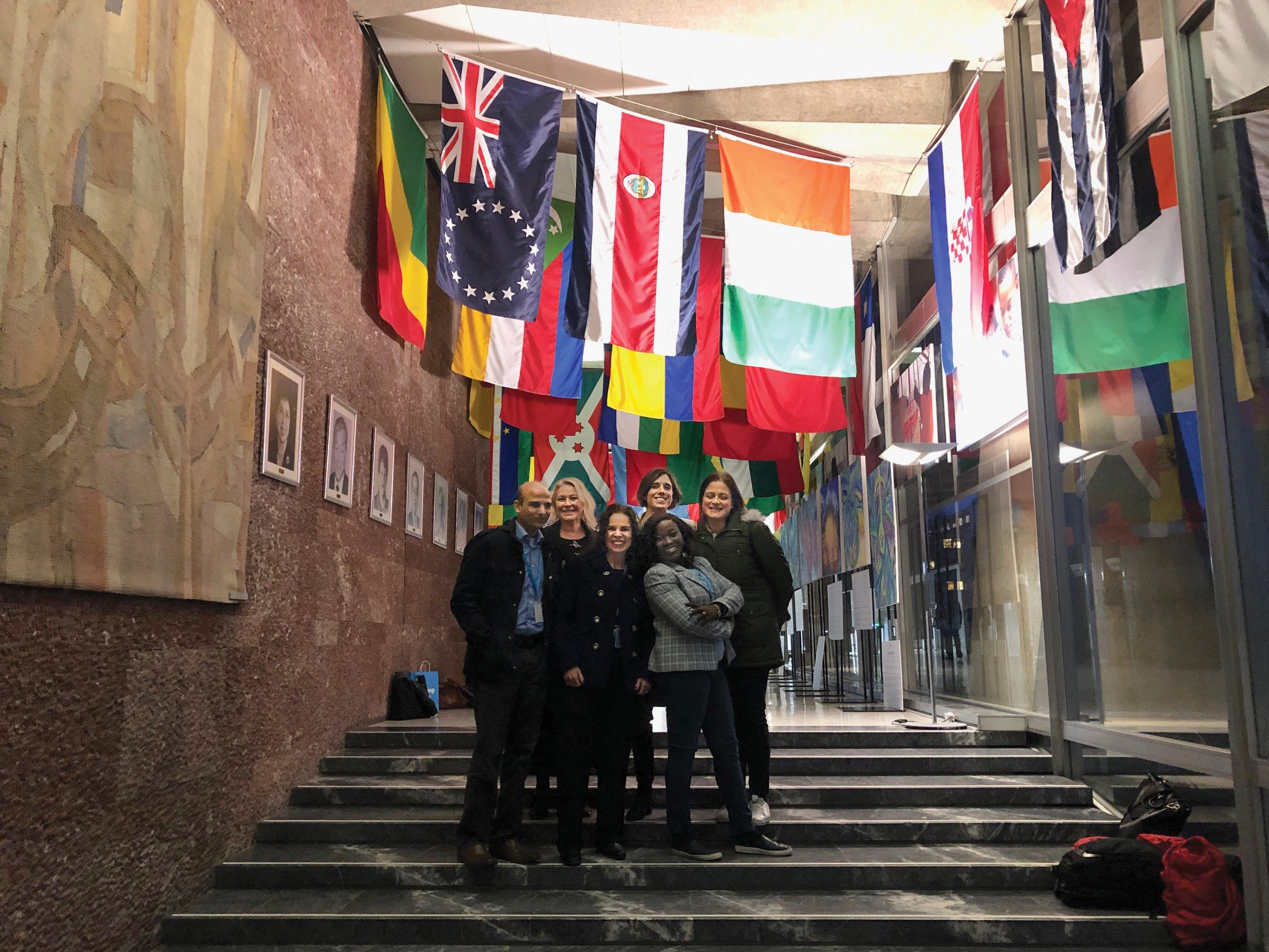 Kathy Black at the World Health Organization training in Switzerland with her five international colleagues and age-friendly advocates.
